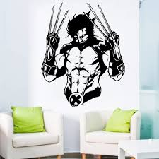 Yoyoyu Wolverine Wall Decal Vinyl Sticker Marvel Comics Superhero Art X Men Hugh Jackman Kid Room Decoration Window Decor Ww 69 Buy At The Price Of 6 68 In Aliexpress Com Imall Com