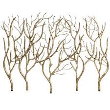 gold branch fireplace screen look 4