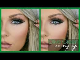 olive green smokey eye makeup