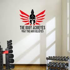 Spartan The Body Achieves Wall Art Motivational Decal Sticker Designdivil