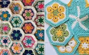 how to crochet african flowers ideas