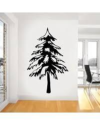 New Deal Alert Pine Tree Vinyl Home Decor Wall Decal Sticker