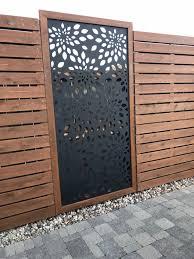 Flowerburst1 Metal Privacy Screen Decorative Panel Outdoor Garden Fence Art Privacy Fence Designs Decorative Screens Outdoor Fence Design