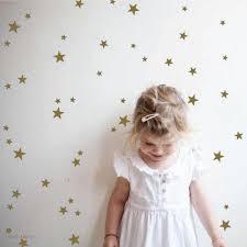 Gold Stars Vinyl Wall Decals Kookies Milk