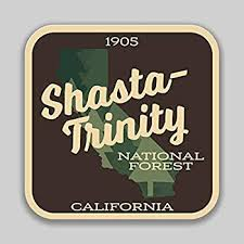 Amazon Com Jmm Industries Shasta Trinity National Forest California Vinyl Decal Sticker Car Window Bumper 2 Pack 4 Inches 4 Inches Premium Quality Uv Protective Laminate Pds1463 Automotive