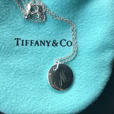 tiffany notes initial pendant