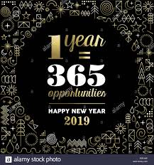 happy new year inspiration quote poster geometry element