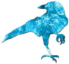 Amazon Com Crow Raven Jackdaw Vinyl Decal Sticker 4 X 3 75 Blue Flames Automotive
