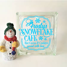 Snowflake Cafe Glass Block Vinyl Decal Michelle S Variety Shop