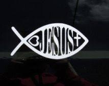 Christian Car Decal Ichthys Symbol Jesus Fish Decal Christian Window Decal Christian Car Decals Christian Decals Car Decals