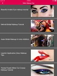 s makeup tips on the app