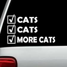 Decals Stickers Vinyl Art More Cats Cat Decal Sticker For Car Window Bg 212 Cat Lady Nip Scratch Post Gift Layers Cl