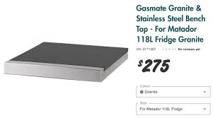 granite and stainless steel top for