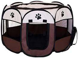 Afgh Dog Cages Medium Size Portable Pet Dog Play Pen Folding Park Cage House Puppy Dog Octagonal Fence For Small Big Dog Cat Tent Bed Amazon Co Uk Pet Supplies