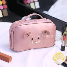 whole soft leather cosmetic bags