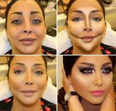 before and after makeup contouring