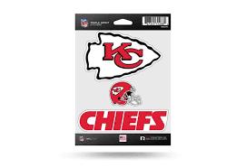 Nfl Football Kansas City Chiefs Window Decal Sticker Set Officially Licensed Custom Sticker Shop