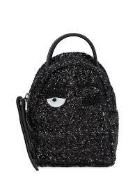 small black glitter and black faux