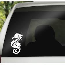 Seahorse Vinyl Decal Seahorse Window Decal Seahorse Rear Etsy