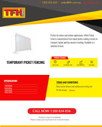 Temporary Picket Fencing Temporary Fencing Hire Perth By Tfh Hire Issuu