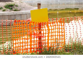 Orange Construction Fence Images Stock Photos Vectors Shutterstock
