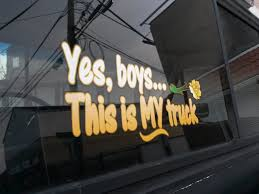Yes Boys Its My Truck Rose Edition Window Decal