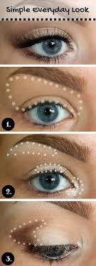 natural makeup look for blue eyes