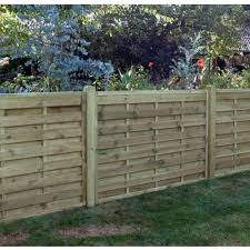 Horizontal Fence Panel Square 1 2m Wooden Supplies
