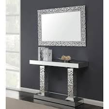 mirrored console table acrylic crystal