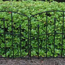 Vigoro Alexander 32 In Steel Garden Fence 51030 The Home Depot