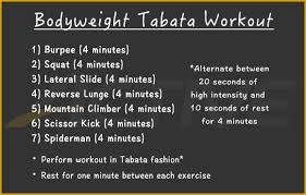 30 minute bodyweight tabata workout