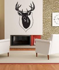 Vinyl Wall Decal Sticker Deer Head Os Mb1044 Stickerbrand