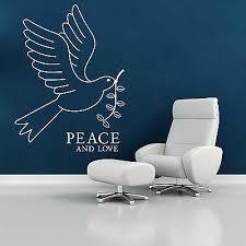 White Dove Bird Of Peace And Love Vinyl Wall Art Sticker Decal Ebay