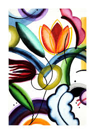 Adele Becker - Abstracted Floral 1 For Sale at 1stDibs