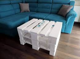 chic white pallet coffee table with