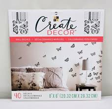 Dcwv Create Decor Removable Wall Decals 8 X 8 Butterfly Includes 40 Decals For Sale Online