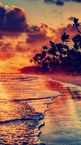 nature fire sunset beach iphone 6 6s 7