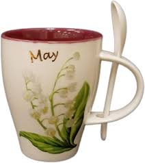 Adeline May Lily of the Valley Birth Month Flower Mug with Spoon, New Bone  China, 355ml: Amazon.ca: Home & Kitchen