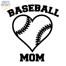 Baseball Mom Text With Heart Decal Car Stickers And Decals