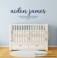 Baby Boy Bible Verse Name Nursery Decal Bible Verse Nursery Etsy