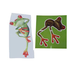 2 Pcs Funny 3d Frog Peep Car Stickers Truck Window Decal Image Sticker Climbing Frogs Frogs Car Stickers Aliexpress