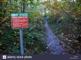 warning danger of fire sign Perry Wood Kent England Stock Photo - Alamy