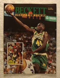 Shawn Kemp - Seattle SuperSonics - Beckett Basketball Monthly Magazine -  #39 - October 1993 - Back Cover: Death of Reggie Lewis & Drazen Petrovic  (Boston Celtics & New Jersey Nets) at Amazon's Sports Collectibles Store