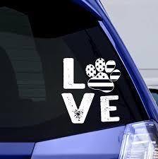 Love Paw Usa Vinyl Window Sticker Iheartcats Com