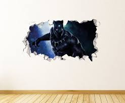 Avengers Endgame Black Panther Attack Marvel Wall Decal Decor Etsy