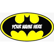 Personalised Batman Logo Decal Removable Wall Sticker Home Decor Art Your Name Wall Decals Huge Size 800mmx460mm Multi Color Batman Logo Decal Decal Removerstickers Home Decor Aliexpress
