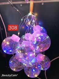 Chợ Nguồn VN. Dây đèn LED vỏ bóng hình tròn trong suốt trang trí noel, tết  độc đáo cực dễ thương