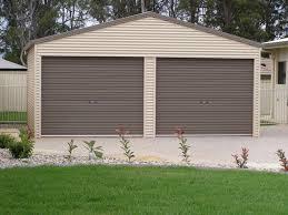 double garage sheds garages