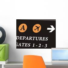 Airport Wall Mural Decal By Wallmonkeys Vinyl Peel And Stick Graphic 18 In W X 13 In H Walmart Com Walmart Com