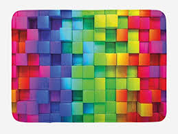 com ambesonne colorful bath mat